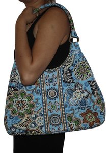 Vera Bradley Tote in Blue and Brown