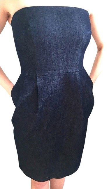Express short dress Dark Denim on Tradesy