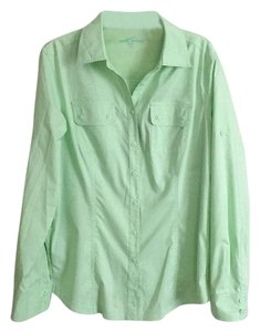 Eddie Bauer Button Down Shirt Mint