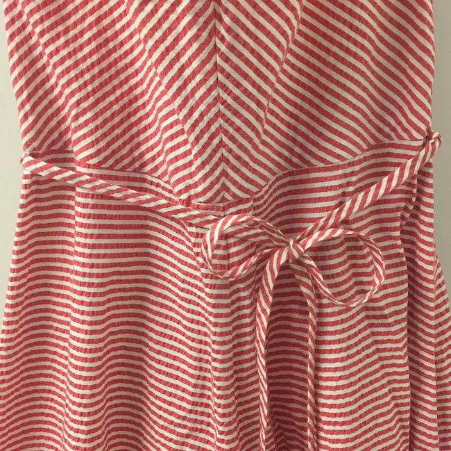 Red Maxi Dress by Marc Jacobs Seersucker Halter Striped Ruffles Image 3