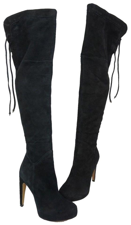 get cheap innovative design half price Sam Edelman Black Kayla Over The Knee Suede Boots/Booties Size US ...