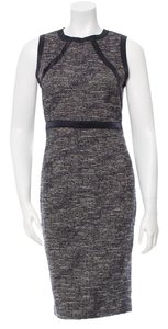 Magaschoni Tweed Navy Silver Dress