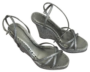 BCBGeneration Silver/black Wedges