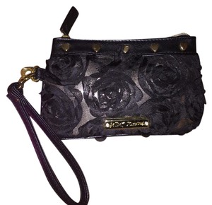Betsey Johnson Black And Gold Clutch