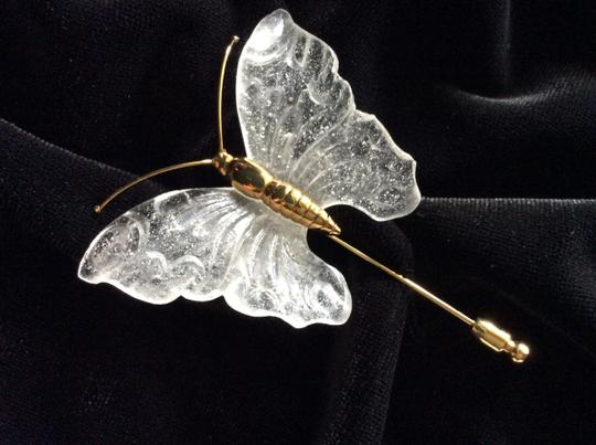 Daum France (Crystal) Daum France Crystal Butterfly Pin Image 4