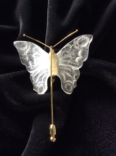 Daum France (Crystal) Daum France Crystal Butterfly Pin Image 5