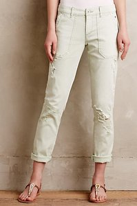 Anthropologie Chino Distressed Khaki/Chino Pants Mint