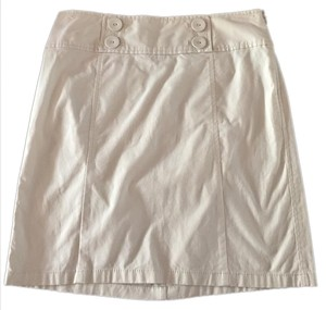 Ann Taylor Mini Skirt cream