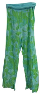 Lilly Pulitzer Relaxed Pants Blue and green