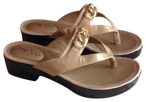 Me Too Nude, flesh, neutral. Gold tone Sandals