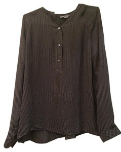 Vince Silk Top Black and White