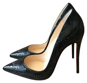 Christian Louboutin Kristali Laser Cut 120 BLACK Pumps