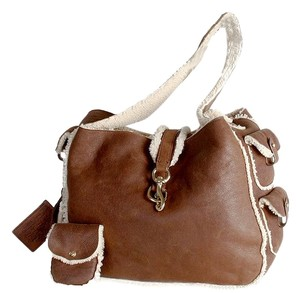 Ralph Lauren Collection Shearling Hobo Bag