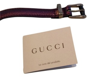 Gucci GUCCI AUTHENTIC NWT SKINNY PURPLE METALLIC LEATHER BELT