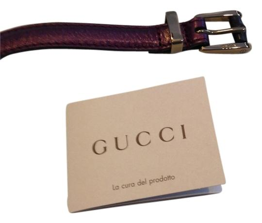 Preload https://img-static.tradesy.com/item/1723280/gucci-purple-skinny-metallic-leather-belt-0-0-540-540.jpg