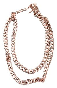 BaubleBar Double Chain Rose Gold Necklace