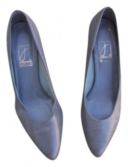 Joy Gryson Classic Leather Gray Pumps