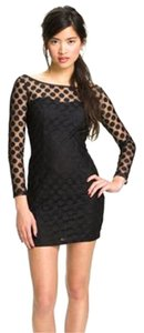 Trixxi Sheer Polka Dot Long Sleeve Dress