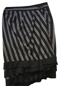 Emporio Armani Skirt Navy blue with dark red and silver pin stripes