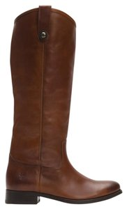 Frye Tall Leather Cognac Boots