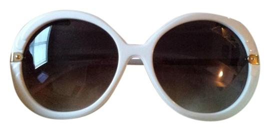 6ac5e012dde Louis Vuitton White Large Round Celebrity Style Sunglasses - Tradesy