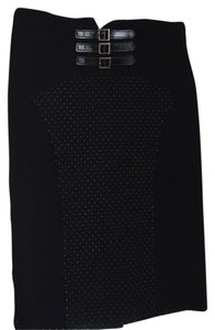 Emporio Armani Skirt Black with white hand stiched dots.