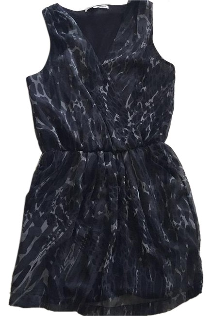 Collective Concepts Dark Grey/black/light Grey Abstract Dress new