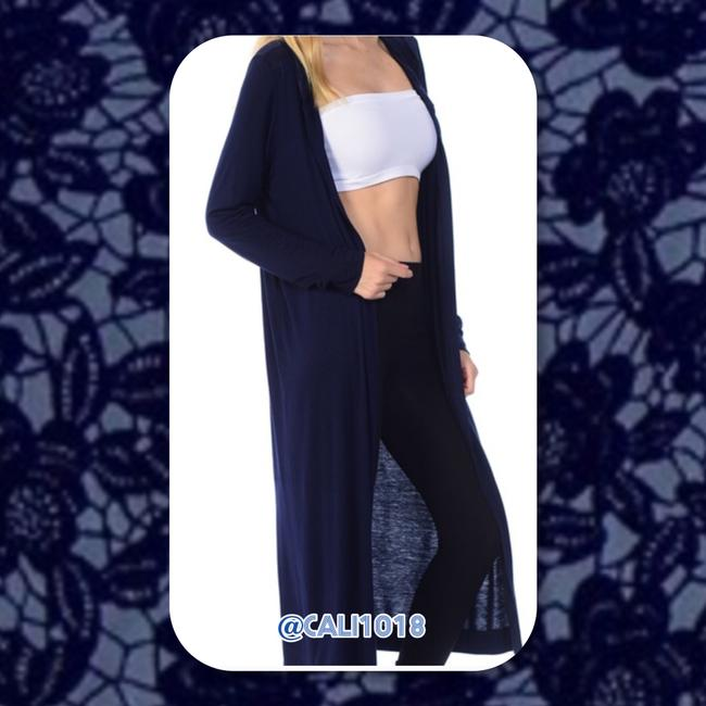 Other Boho Comfy Duster Seamless Hooded Cardigan Image 3