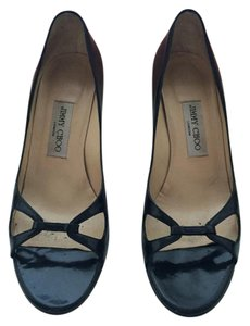 Jimmy Choo Patent Leather Kitten Heel Black Pumps