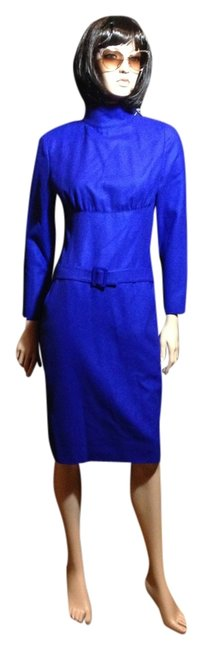 Preload https://item1.tradesy.com/images/karl-lagerfeld-blue-belted-wool-vintage-longsleeve-knee-length-workoffice-dress-size-6-s-1723420-0-0.jpg?width=400&height=650