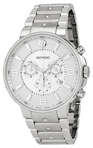 Movado Silver tone Stainless Steel Designer MENS Casual Dress Watch