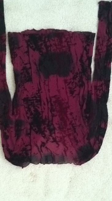Joyce Leslie Top red black print