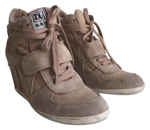 Ash Wedge Sneaker Suede Lace-up Nude Athletic