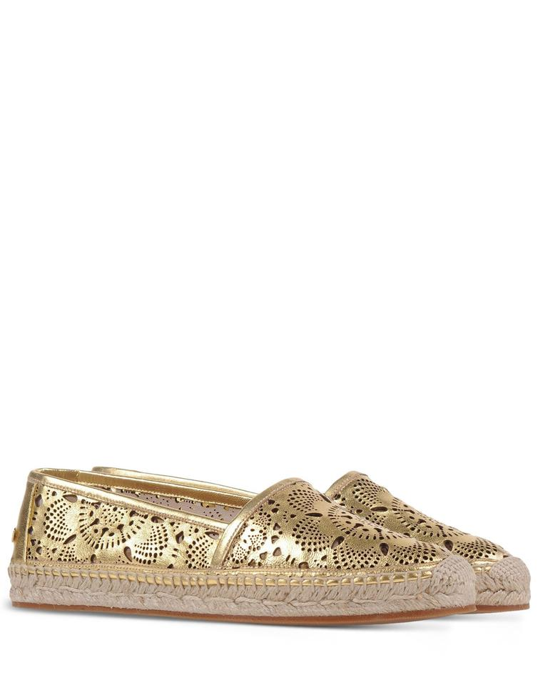 Espadrille Metallic Flats Leather 38 Gold New Hodgeson Es cut Laser Burberry wOWFfq0gO