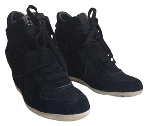 Ash Wedge Sneaker Suede Black Athletic