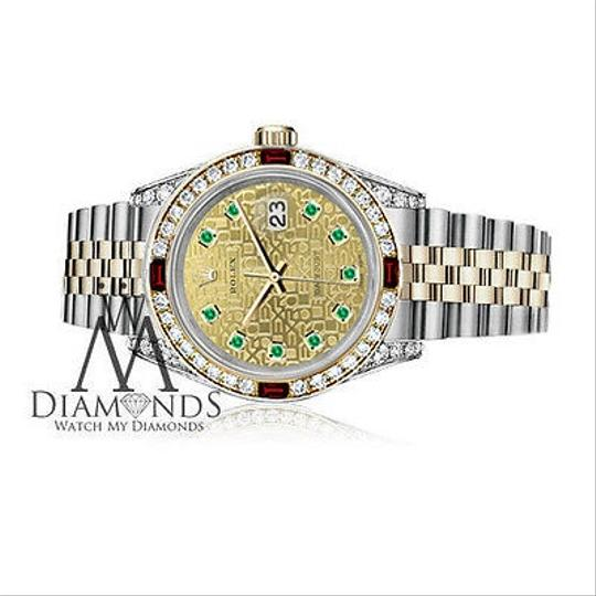 Rolex Women's Rolex Steel & Gold 31mm Datejust Two Tone Dial Ruby & Diamond Image 2