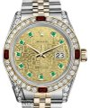 Rolex Rolex Steel & Gold 36mm Datejust Two Tone Dial Ruby & Diamond Image 0