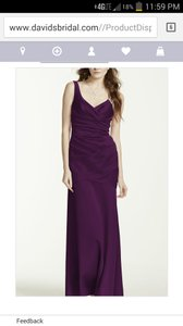 David's Bridal Plum F15652 Dress