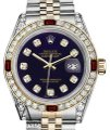 Rolex Ladies Rolex S/Steel & Gold 26mm Datejust Dial Ruby & Diamond Image 0