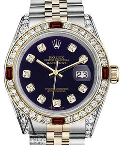 Rolex Ladies Rolex S/Steel & Gold 26mm Datejust Dial Ruby & Diamond