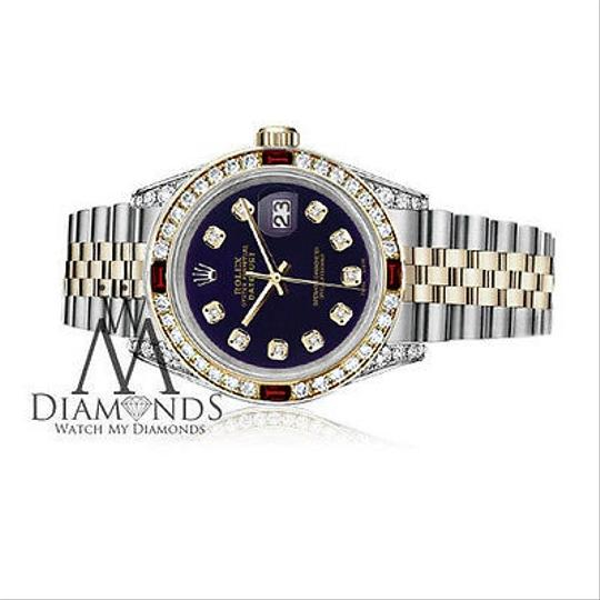 Rolex Women's Rolex S/Steel & Gold 31mm Datejust Dial Ruby & Diamond Image 2