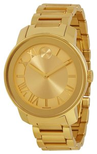 Movado Gold tone Stainless Steel Designer Unisex Casual Watch