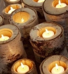 White New Birch Candle 73 Pices Ceremony Decoration
