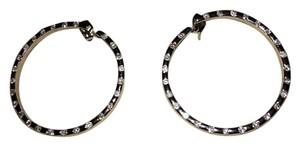 Bloomingdale's 14kt white gold 1/2 ct diamond hoop earrings