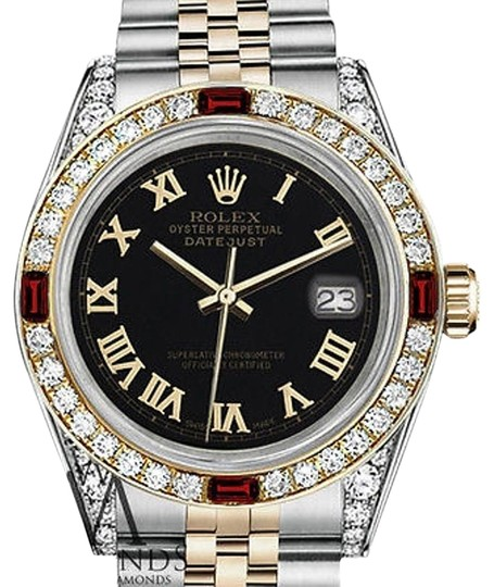 Preload https://img-static.tradesy.com/item/17235832/rolex-ladies-26mm-samll-steel-and-gold-two-tone-dial-ruby-and-diamond-watch-0-3-540-540.jpg