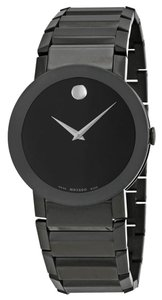 Movado Black PVD Stainless Steel Designer Sport Style MENS Casual Watch
