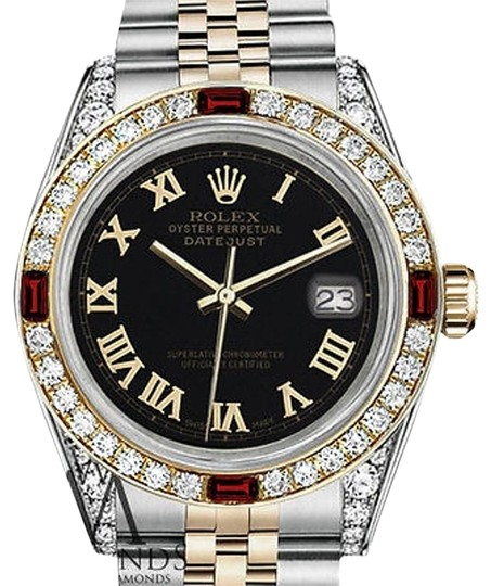 Preload https://img-static.tradesy.com/item/17235883/rolex-women-s-31mm-samll-steel-and-gold-two-tone-dial-ruby-and-diamond-watch-0-1-540-540.jpg
