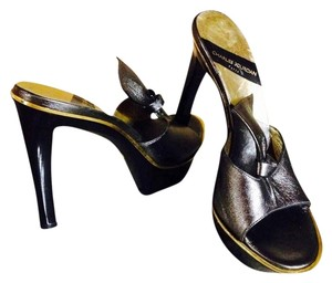 Charles Jourdan Slate Grey/black Sandals