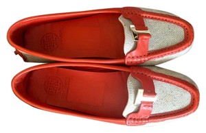 Tory Burch Orange and brown Flats