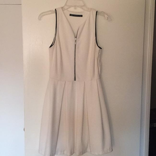 Zara short dress White with black stiching on the top on Tradesy Image 1